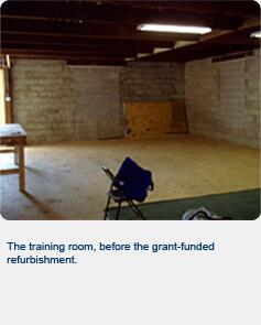 The training room, before the grant-funded refurbishment
