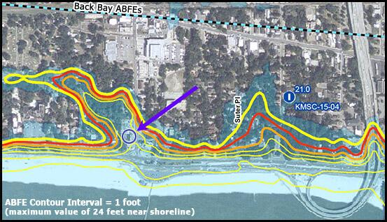 Hurricane Katrina Surge Inundation And Advisory Base Flood Elevation - Fema base flood elevation map