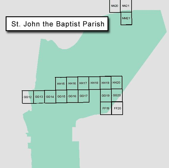 Revised maps for St. John the Baptist were uploaded by FEMA on March 17, 2006.