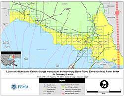 St Tammany Parish Louisiana FEMAgov - Fema base flood elevation map