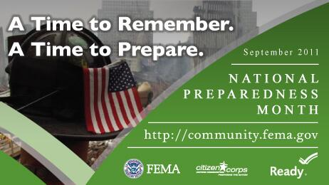 National Preparedness Month -- http://community.fema.gov
