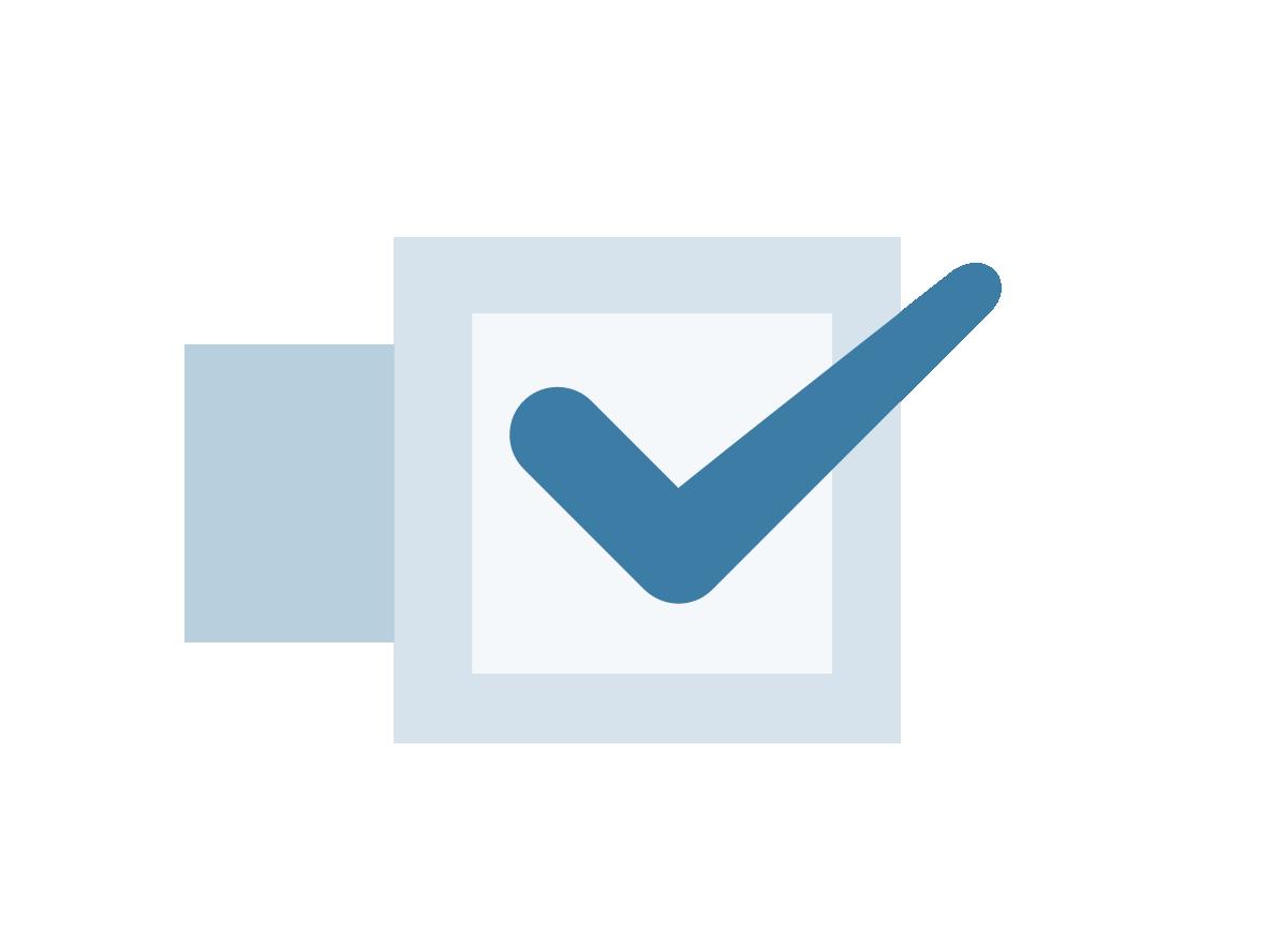 Illustration of a checkmark