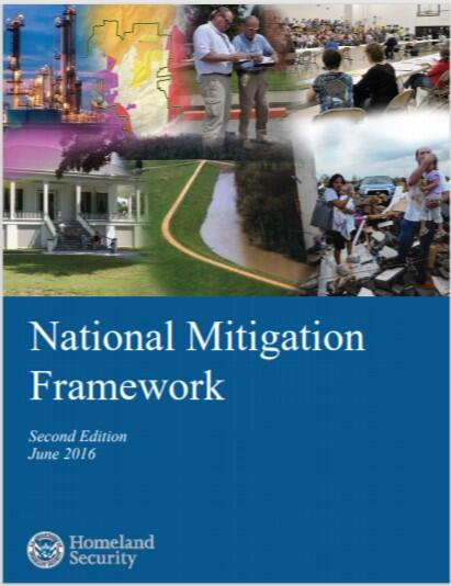 National Mitigation Framework, Second Edition, June 2016, report cover