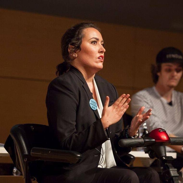 Kristin Duquette speaking