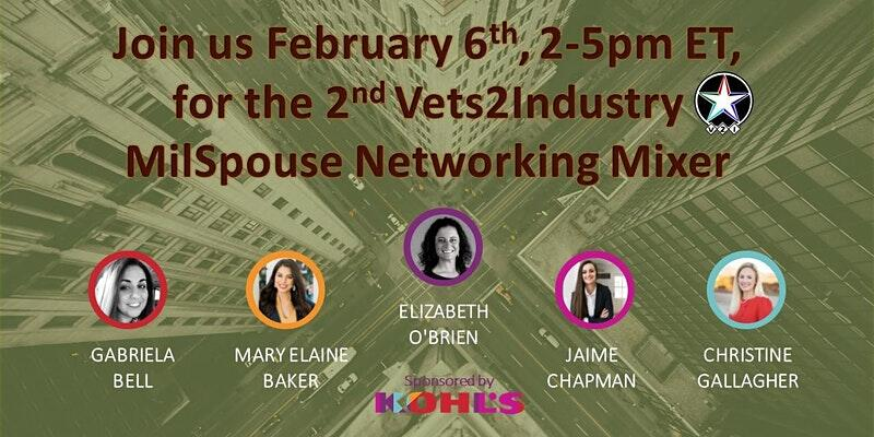 Vets 2 Industry Military Spouse Virtual Networking Event