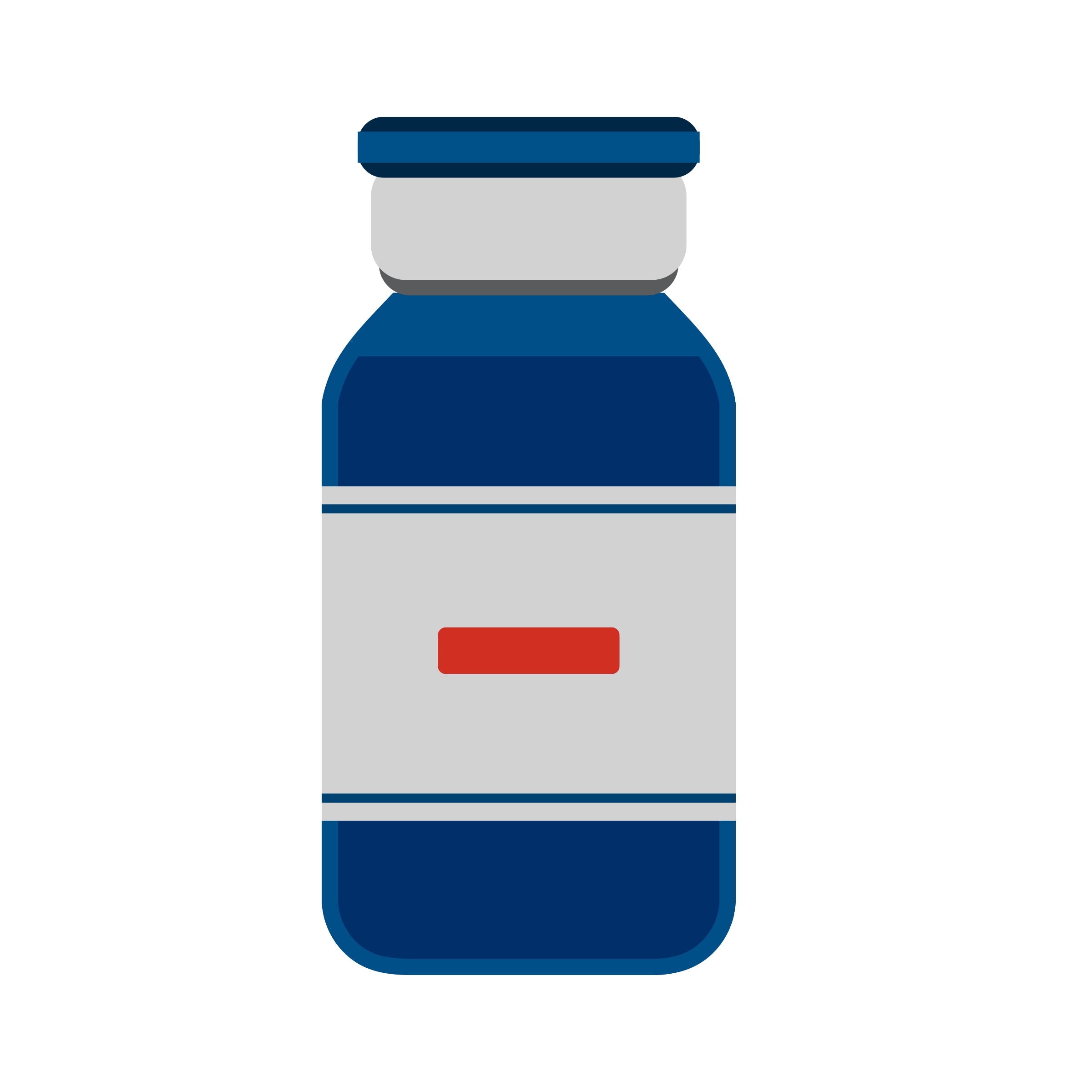 blue vaccine bottle