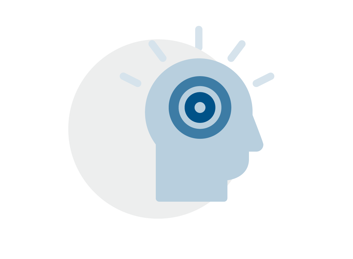 Brain thinking icon