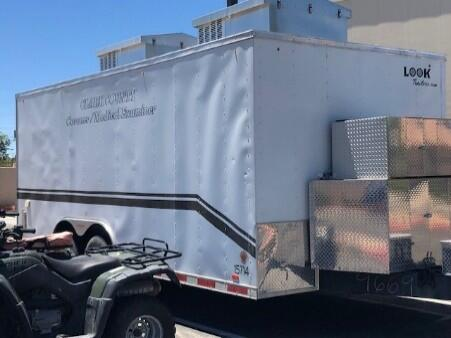 Mass casualty incident trailer purchased with FY 2008 UASI grant funds.