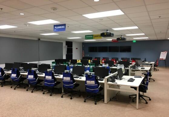 The City of Henderson EOC after HSGP investment. Approximately 4,000 square feet with robust capacity.