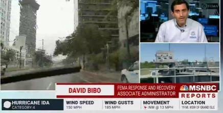 FEMA's Acting Associate Administrator for Response and Recovery, David Bibo, spoke on MSNBC